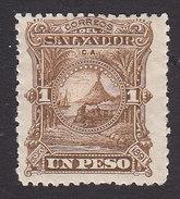 El Salvador, Scott #56, Mint Hinged, Volcano, Issued 1891 - El Salvador