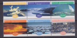 Ross Dependency 1998 Ice Formations 6v  Se Tenant ** Mnh (32451) - Ross Dependency (Nieuw-Zeeland)