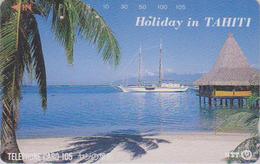 Télécarte Japon / NTT 331-211 - Site POLYNESIE PF - TAHITI & Bateau - FRENCH POLYNESIA & SHIP Japan Phonecard  / B - Paysages
