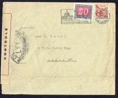 1945  Lettre Pour La France Zum 242, 264  Censure Française LYY - Briefe U. Dokumente