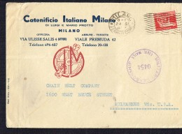 1942  Busta Da Milano  Per Gli Stati Uniti   Censura Militarire - Briefe U. Dokumente