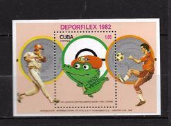 CUBA 1982 DEPORFILEX 1982  YVERT N°B72 NEUF MNH** - Blocks & Kleinbögen