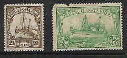 German East Africa, 1905 2 1/2h, 2 Rupees, MH * Poor Condition, 2 Rupee Badly Damaged - Colony: German East Africa