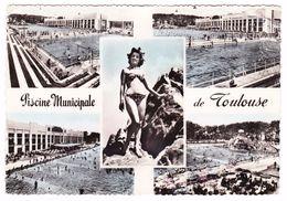 31 - TOULOUSE - Multivues: La Piscine Municipale Et Le Rocher - Ed. Labouche N° 405 - 1956 - Pin Up - Toulouse