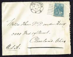 Lettre De Rotterdam  Pour Les USA  Censure Américaine - 1891-1948 (Wilhelmine)