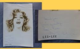 Les-Lee,   Photo  Originale Dédicacée ; Ref 454 VP34 - Foto Dedicate