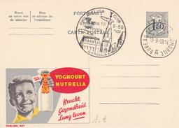 PUB  N°1637 - NUTRELLA Yoghourt  - NL/FR - Beau Cachet De Gosselies+ Bureau Automobile - Enteros Postales