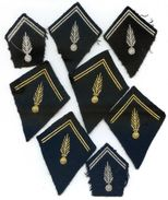 447 (01) - LOT DE 8 ECUSSONS DE COL - GENDARMERIE - Police & Gendarmerie