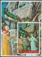 Bf. Umm Al Qiwain 1972 Dante Alighieri Divina Commedia Purgatorio Miniatura Illustrazione Fg. 1 - Scrittori