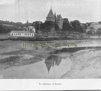 Pornic Le Château 12x11cm   1903 Rare Photo Issue D'un Magazine De Cette Année Là - Ohne Zuordnung