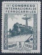 ES479STV-LFT***479STAN.Spain.Esgane.AVION,Congreso Internacional De FERROCARRILES.1930 (Ed 479**) - Nuevos