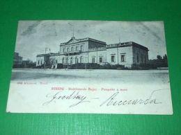 Cartolina Rimini - Stabilimento Bagni - Prospetto A Mare 1906 - Rimini