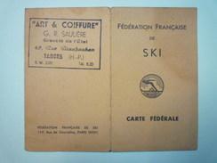 Fédération Française De  SKI  :  CARTE FEDERALE  1946  -  1950   XXX - Sports D'hiver