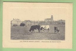 LA FERTE SAINT AUBIN : Panorama De Saint Aubin, Vaches. 2 Scans. Edition Audinet - La Ferte Saint Aubin