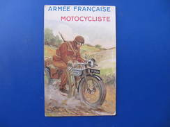 CPA - MOTOCYCLISTE ARMEE FRANCAISE - Signée PAUL BARBIER - Andere Illustrators