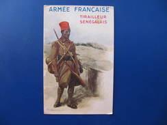 CPA - TIRAILLEUR SENEGALAIS  ARMEE FRANCAISE - Signée PAUL BARBIER - Andere Illustrators