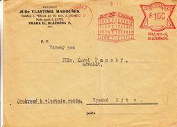 Tchècoslovaquie - Lettre De 1937 ° - Oblit Praha - EMA - Empreintes Machines - Advocat - Magasins - Coöpérative - Briefe U. Dokumente