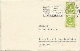LETTRE 1952 AVEC 2 TIMBRES POSTHORN - BRD