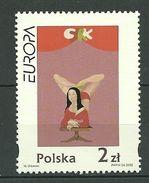 POLAND MNH ** 3737 Europa, Affiche, Le Cirque Avec La Joconde De MACIEJ ZDZIEBLAN URBANIEC - 1944-.... República