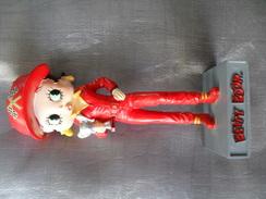 Figurine Collection Résine Betty Boop Pilote De Course 14 Cm Héros Cartoons - Figurines