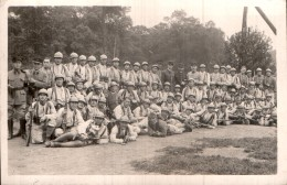 CARTE PHOTO NON IDENTIFIEE REPRESENTANT LE 3 Eme GENIE DE LA 11 Eme COMPAGNIE LE 12 JUIN 1932 - A Identifier