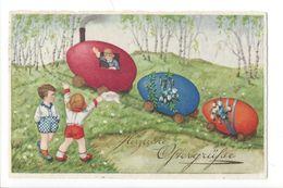 16942 - Herzliche Ostergrüsse Petit Train Oeufs Et Enfants - Pâques