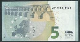 € 5 SPAIN  VB V010 A3  DRAGHI  UNC - 5 Euro
