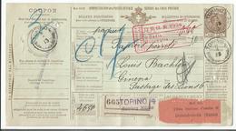 Italie, Bulletin D'expédition, Entier Postal, Torino - Domodossola - Genève Suisse (665) - 1900-44 Vittorio Emanuele III