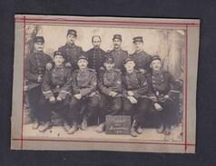 Photo Originale Militaria Groupe De Militaires Du 153 153è Regiment D' Infanterie Depart Des Manoeuvres 1900 - Guerre, Militaire