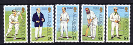 Alderney 1997 150Y Of Cricket 5v  ** Mnh (ALD122) - Alderney