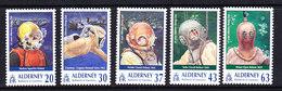 Alderney 1998 Diving 5v ** Mnh (ALD123) - Alderney