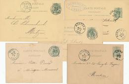 YY216 - CANTONS DE L'EST - Petit Ensemble De 20 Entiers Postaux Lion Couché Vers MONTZEN 1886/1894 - Entiers Postaux