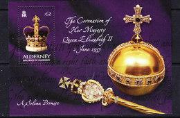Alderney 2003 Coronation M/s ** Mnh (ALD124) - Alderney