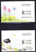 Alderney 1994 Fauna & Flora 2 Booklets ** Mnh (ALD127) - Alderney