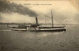 50 - CARTERET - Bateau Le Cygne Pour JERSEY - Carteret