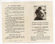 Religion-Décès 11-03-1968-RP René-Marie De La Chevasnerie--Cie Jésus--Institut Petites Servantes--Agneau De Dieu - Religione & Esoterismo