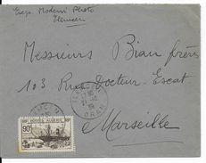 ALGERIE - 1939 - SEUL SUR LETTRE De TLEMCEN => MARSEILLE - Algérie (1924-1962)