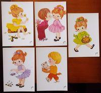 LOT DE 5 CARTES POSTALES NEUVES PETITES FILLES ENFANTS - Illustrators & Photographers