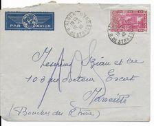 ALGERIE - 1940 - SEUL SUR LETTRE Par AVION De ALGER => MARSEILLE - Brieven En Documenten