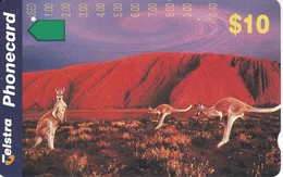 TARJETA DE AUSTRALIA DE UNO CANGUROS (CANGURO-KANGAROO) - Phonecards