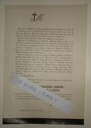 FAIRE-PART DECES 1878 De GAILHARD-BANCEL De LA BRUYERE De LA MAUDUITE Du PAC-BADENS D'AUTANE Allex Drôme Généalogie - Décès