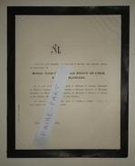 FAIRE-PART DECES 1878 RIGAUD De L'ISLE BLANCARD PERIER BONTOUX ARVET Lisle Crest Allex Drôme Généalogie A) - Décès