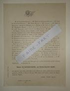 FAIRE-PART DECES 1879 De GAILHARD-BANCEL MAREY CHAPER De BROUVILLE De HEDOUVILLE Dijon Côte-d'Or Généalogie - Décès