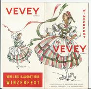 Vevey, Fête Des Vignerons En 1955, Publicité En Allemand, Winzerfest (1955) Format 21x21 8 Pages - Publicités