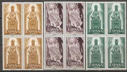 1956 MONSERRAT EDIFIL 1192/4 (**) EN BLOQUE DE 4 - 1951-60 Nuevos & Fijasellos