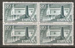 1956 EXALTACION DE FRANCO EDIFIL 1199 (**) EN BLOQUE DE 4 - 1951-60 Nuevos & Fijasellos
