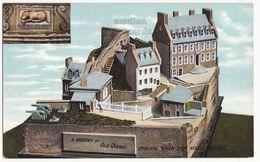 Original Chien D'Or House Quebec PQ Canada - Maquette Model - C1910s Vintage Postcard - Quebec