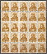 1955 SAN VICENTE FERRER EDIFIL 1183 (**) EN BLOQUE DE 25 - 1951-60 Nuevos & Fijasellos