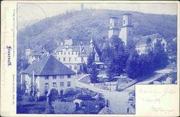 AK Marxzell Frauenalb, Teilansicht, O 1901, Mehrere Druckstellen Und Knicke, Ecken Bestoßen (19389) - Germania