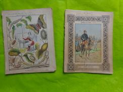 2  Cahiers Illustrés -la Sericiculture (ver A Soie)-chanzy- Beau Graphisme - Buvards, Protège-cahiers Illustrés